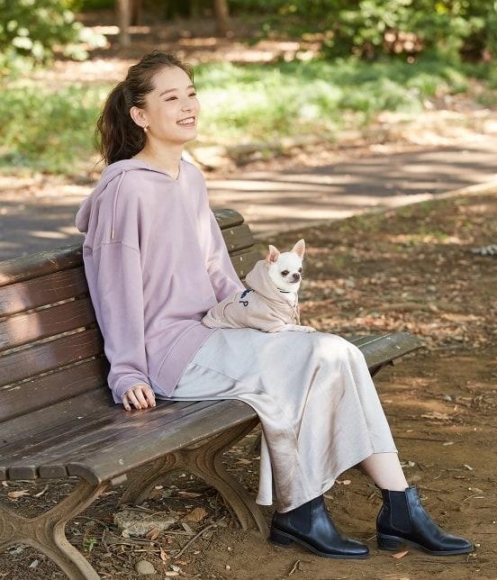 ロペピクニックパサージュ | 【DOG】ロゴ刺繍裏毛パーカー - 12