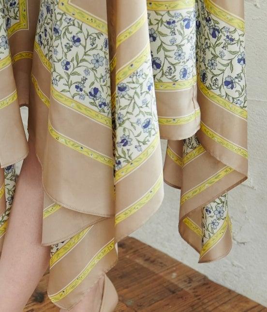 ロペピクニック | 【TIME SALE・今だけ50%OFF】スカーフ柄ランダムヘムスカート - 5