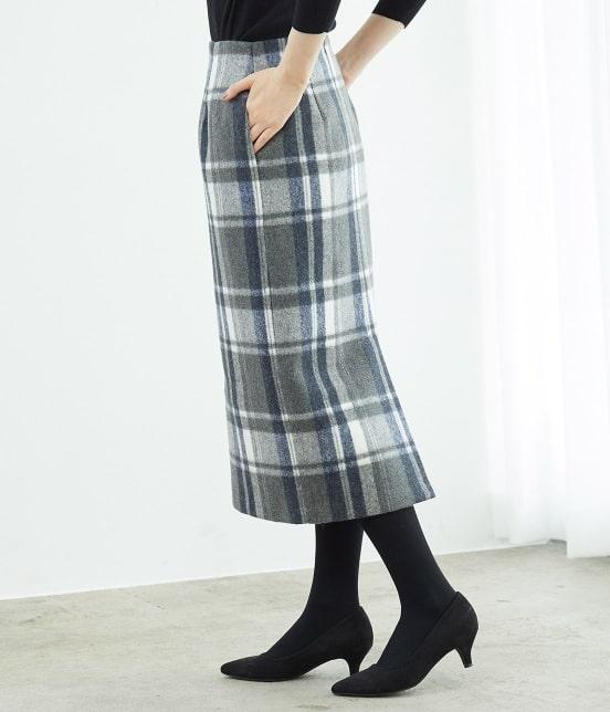 ロペピクニック   【新色追加】【WEB限定:着丈が選べる】ビッグチェックアイラインスカート - 1