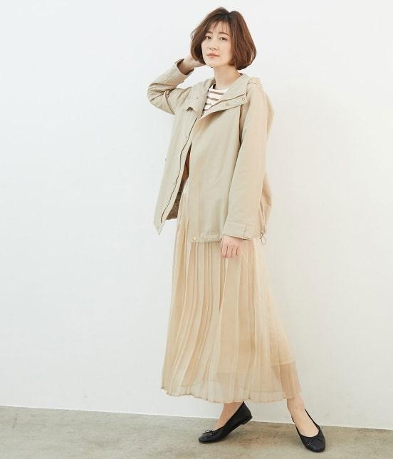 ロペピクニック   【撥水加工&花粉ガード】グログランマウンテンパーカー - 17