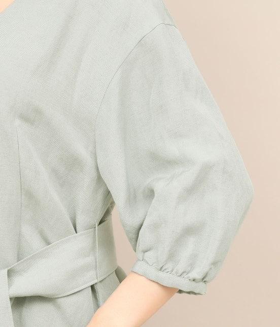 ロペ マドモアゼル | 【TIME SALE】【ドラマ着用】【洗える】【ベルト付き】リネンポプリンベルテットブラウス - 7