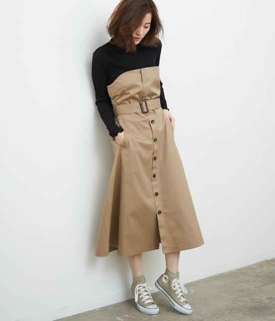 ロペピクニック | トレンチジャンパースカート - 10