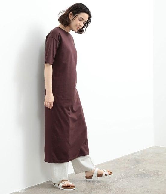 サロン アダム エ ロペ ウィメン | バックスリットロングT-DRESS - 9