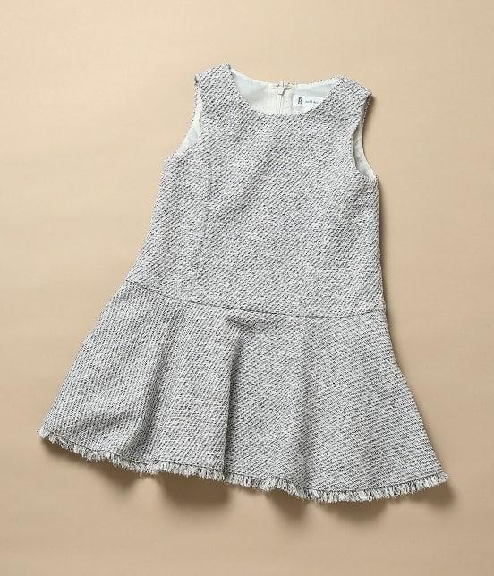 ロペピクニック キッズ | 【ROPE' PICNIC KIDS】ツイードジャケット&ジャンパースカートセット - 4