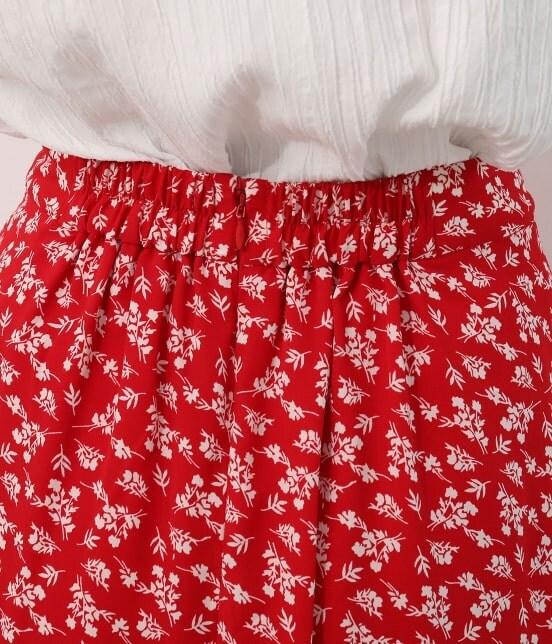 ビス | 【TIME SALE】単色花柄プリントマーメイドスカート - 3