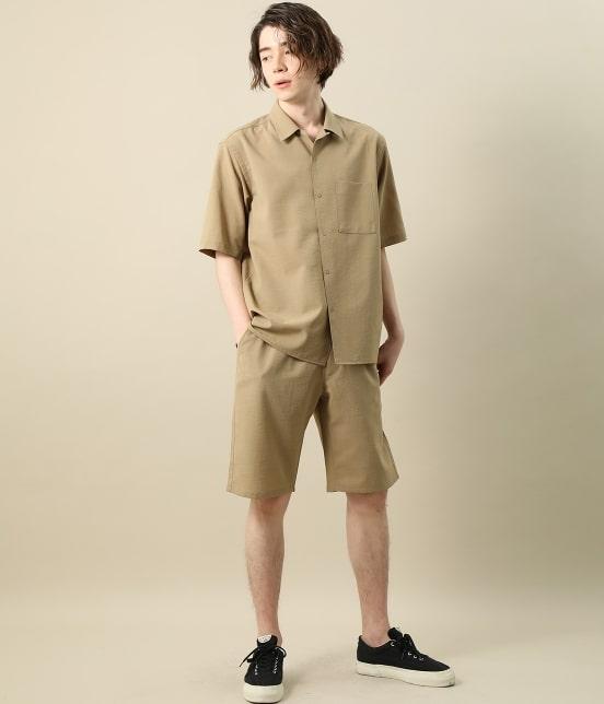 ジュンレッド   【Less:3/レスリー】ドライクロスオープンカラーシャツ - 10