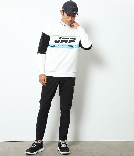 ジュン アンド ロペ メンズ   【UV】【吸水速乾】ロゴプリントハイネックプルオーバー - 8