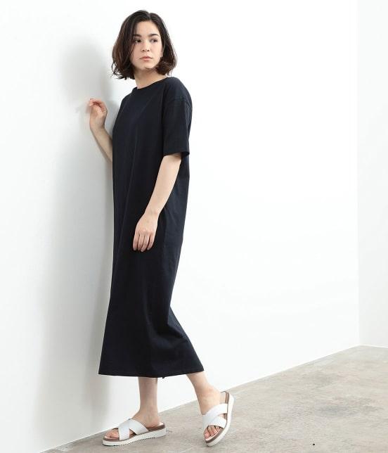 サロン アダム エ ロペ ウィメン | バックスリットロングT-DRESS - 11