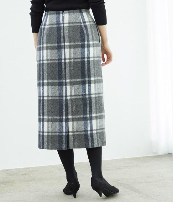 ロペピクニック   【新色追加】【WEB限定:着丈が選べる】ビッグチェックアイラインスカート - 2
