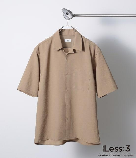 ジュンレッド   【Less:3/レスリー】ドライクロスオープンカラーシャツ - 1