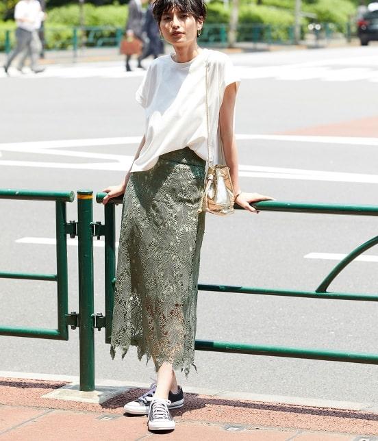 ロペ マドモアゼル   【TIME SALE】リーフレースロングスカート - 2