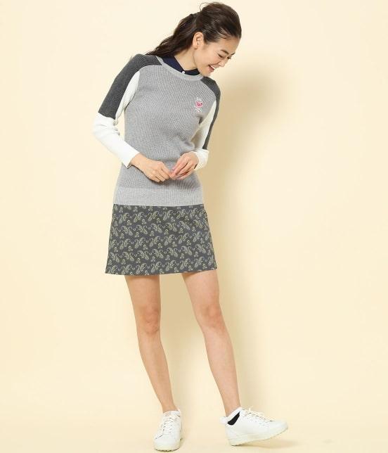 ジュン アンド ロペ   【TIME SALE】ペイズリー柄プリントAラインスカート - 9