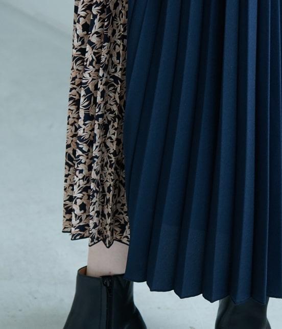 ロペピクニック | 【TIME SALE】【WEB限定】フラワー切替プリーツスカート - 5
