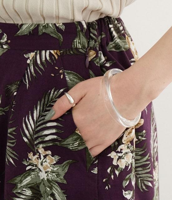 ロペピクニック | 【今だけ通常価格から10%OFF】麻レーヨンボタニカルプリントスカート - 6
