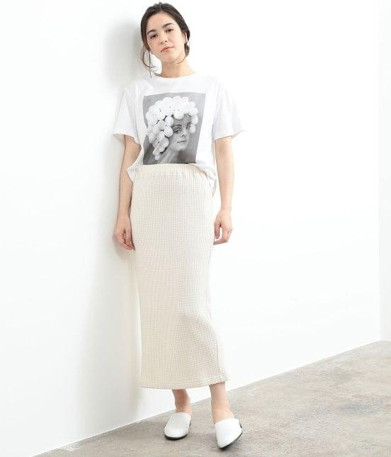 サロン アダム エ ロペ ウィメン   ワッフルタイトスカート - 10