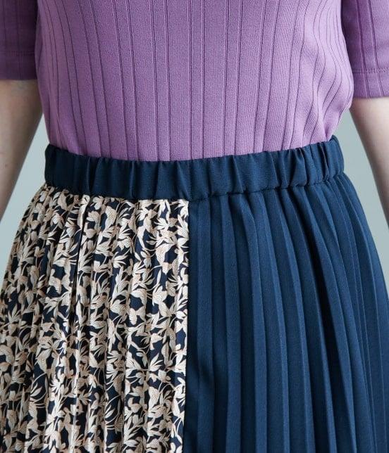 ロペピクニック | 【TIME SALE】【WEB限定】フラワー切替プリーツスカート - 3