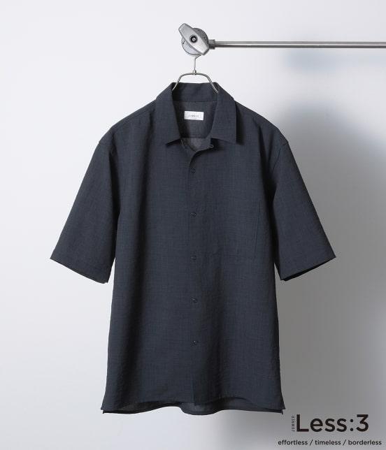 ジュンレッド   【Less:3/レスリー】ドライクロスオープンカラーシャツ - 2