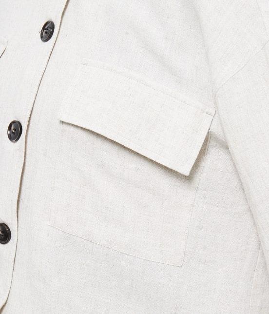 ロペピクニック   【TIMESALE 10%OFF!】【WEB限定】麻レーヨンシャツジャケット - 5