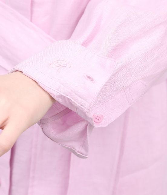 ロペ   【ドラマ着用】フレンチリネンシャツワンピース - 10