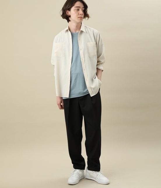 ジュンレッド | カチオン7分レギュラーカラーシャツ - 10