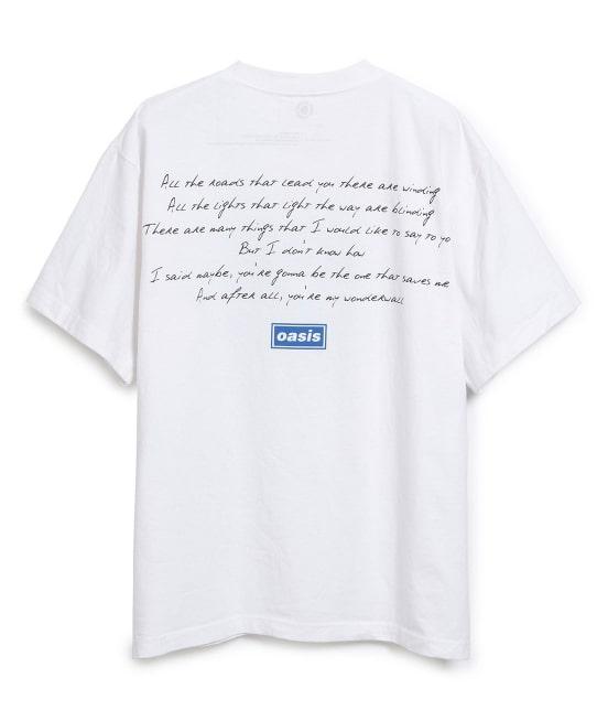 アダム エ ロペ オム   【OASIS×ADAM ET ROPE'】SONG LYRICS T-shirt 19SS - 2