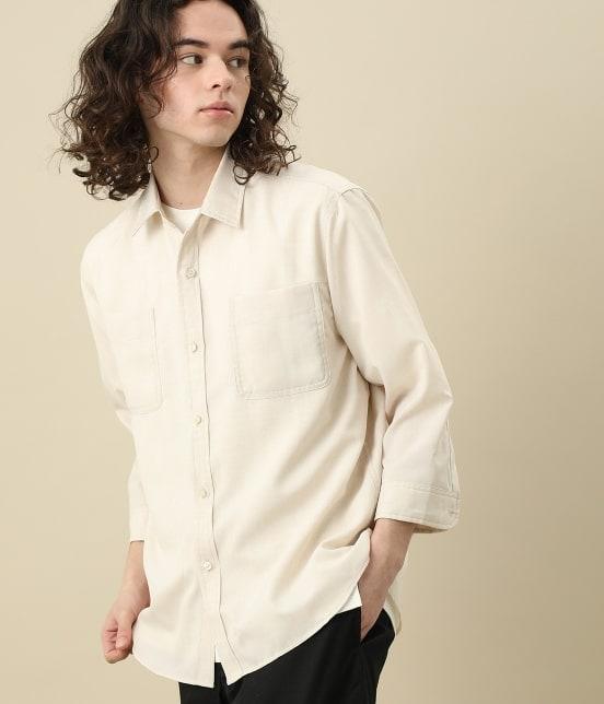 ジュンレッド | カチオン7分レギュラーカラーシャツ - 1