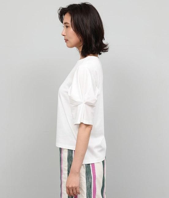 ロペ | 【洗える】【ドラマ着用】ポンチ袖タックプルオーバー - 5