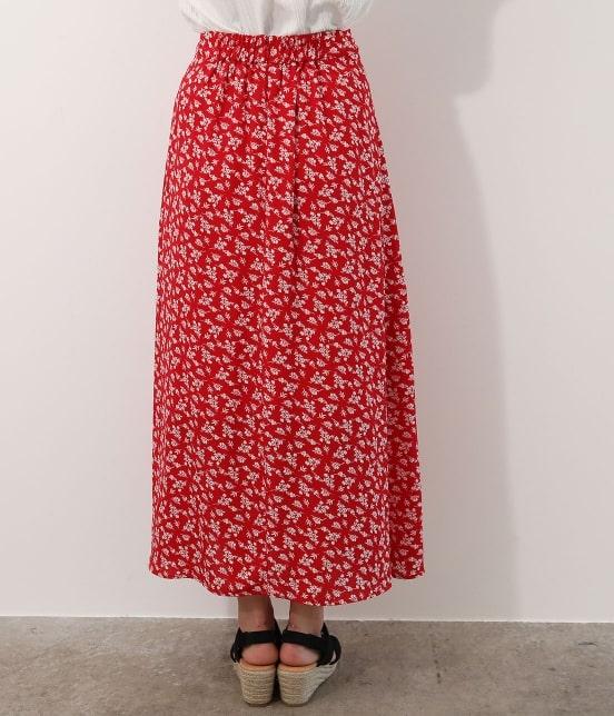 ビス | 【TIME SALE】単色花柄プリントマーメイドスカート - 2
