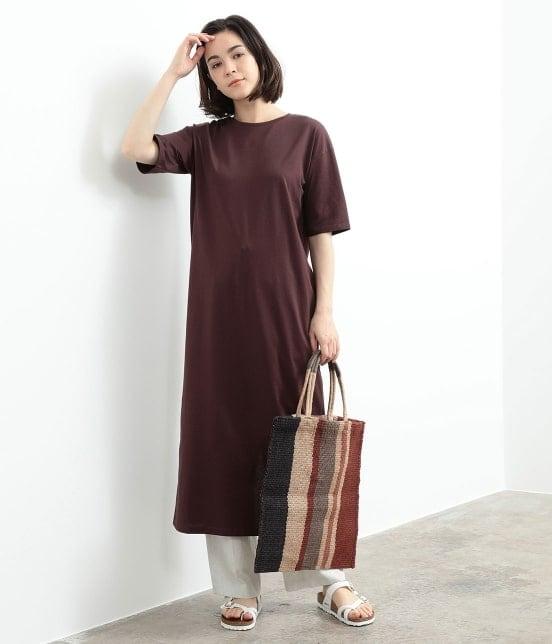 サロン アダム エ ロペ ウィメン | バックスリットロングT-DRESS - 12