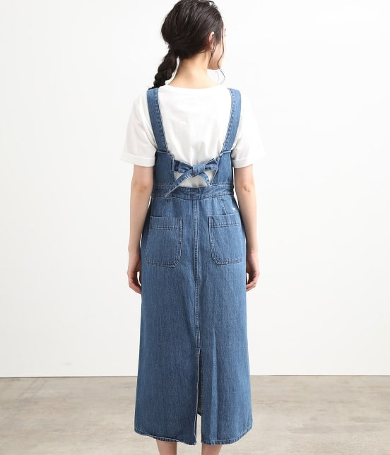 ビス   【早割】【Lee×ViS】デニムサロペットスカート - 2