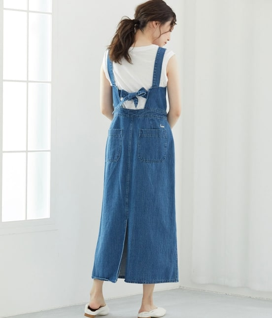 ビス   【早割】【Lee×ViS】デニムサロペットスカート - 20