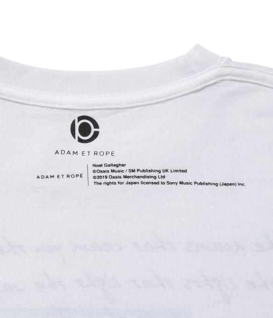 アダム エ ロペ オム   【OASIS×ADAM ET ROPE'】SONG LYRICS T-shirt 19SS - 4