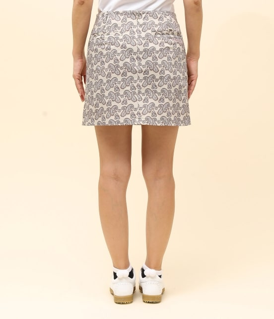 ジュン アンド ロペ   【TIME SALE】ペイズリー柄プリントAラインスカート - 11