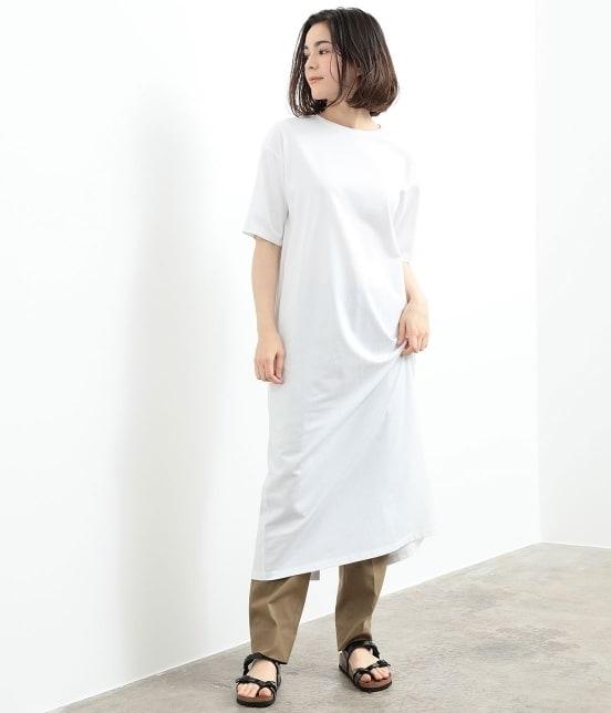 サロン アダム エ ロペ ウィメン | バックスリットロングT-DRESS - 13