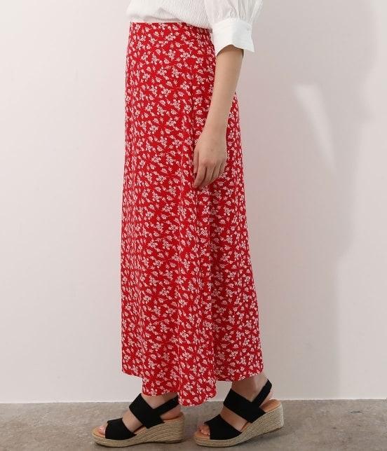 ビス | 【TIME SALE】単色花柄プリントマーメイドスカート - 1