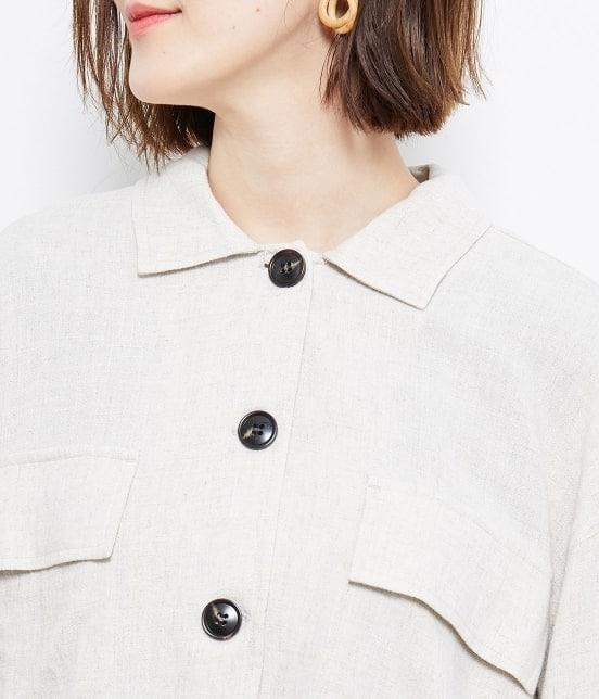 ロペピクニック   【TIMESALE 10%OFF!】【WEB限定】麻レーヨンシャツジャケット - 3