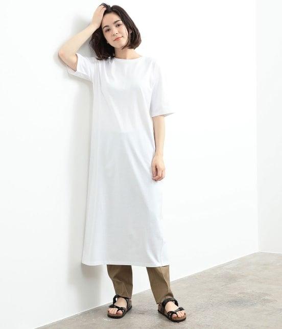 サロン アダム エ ロペ ウィメン | バックスリットロングT-DRESS - 10
