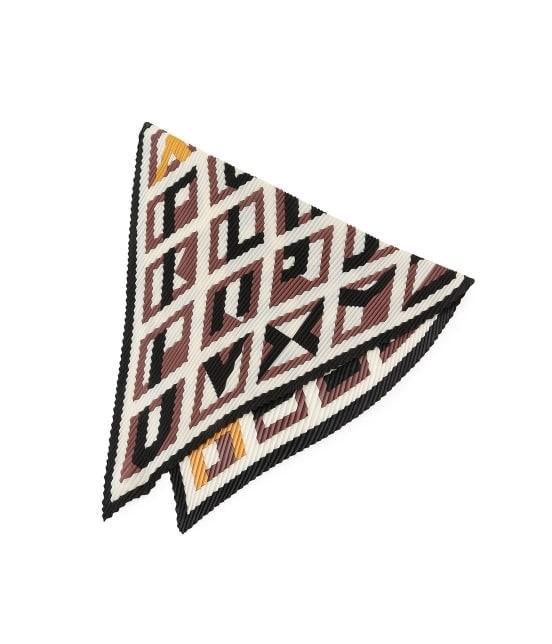 ロペピクニックパサージュ | パターンプリントプリーツスカーフ - 4