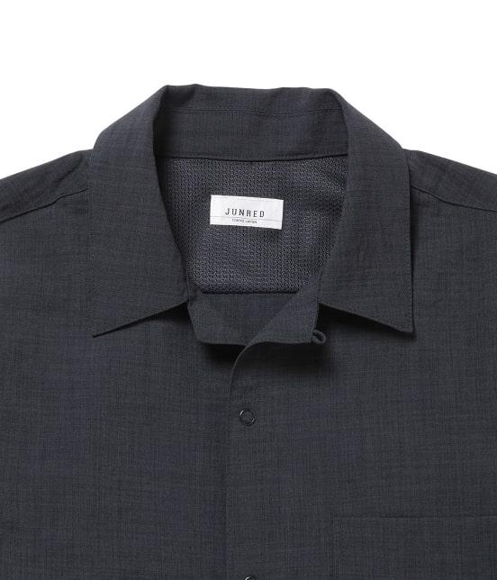 ジュンレッド   【Less:3/レスリー】ドライクロスオープンカラーシャツ - 3