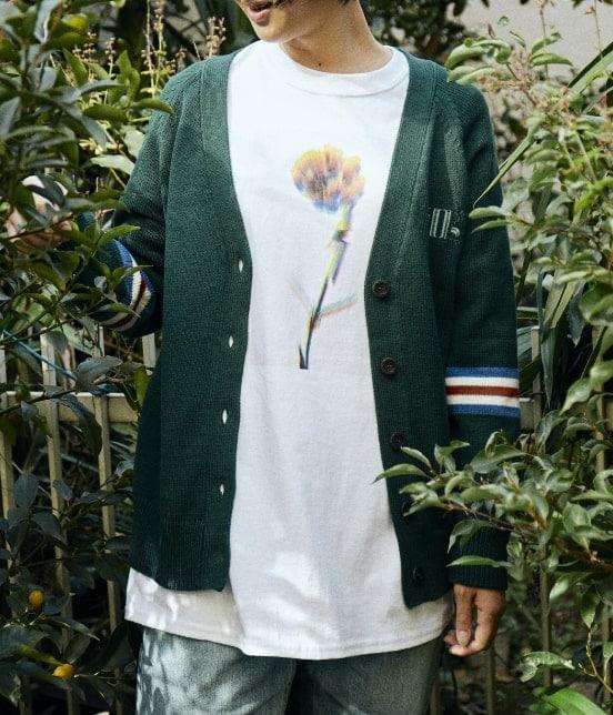 ボンジュールレコード | 【Bonjour Girl】GLITCH FLOWER/LS TEE - 1