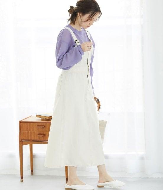 ビス   【早割】【Lee×ViS】デニムサロペットスカート - 18
