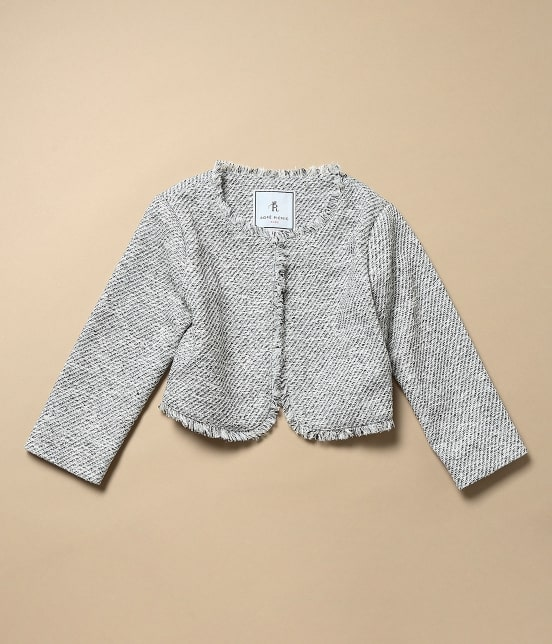 ロペピクニック キッズ | 【ROPE' PICNIC KIDS】ツイードジャケット&ジャンパースカートセット - 3