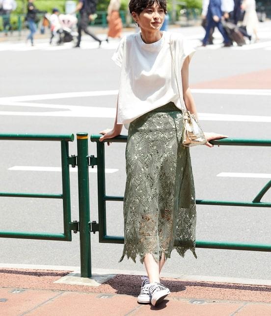 ロペ マドモアゼル   【TIME SALE】リーフレースロングスカート - 10