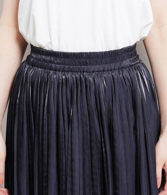 ロペピクニック | 【TIME SALE・今だけ50%OFF】【WEB限定カラー:ネイビー】シャイニープリーツスカート - 3