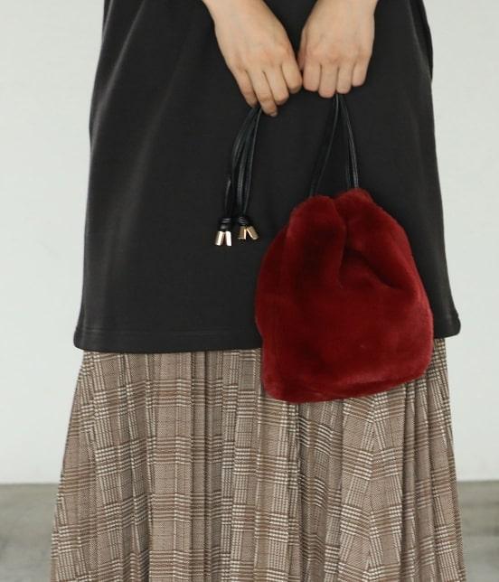 ViSのエコファー巾着バッグ