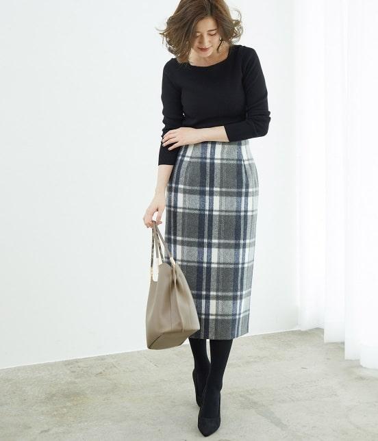 ロペピクニック   【新色追加】【WEB限定:着丈が選べる】ビッグチェックアイラインスカート - 12