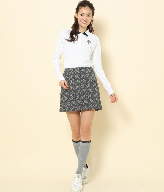 ジュン アンド ロペ   【TIME SALE】ペイズリー柄プリントAラインスカート - 8