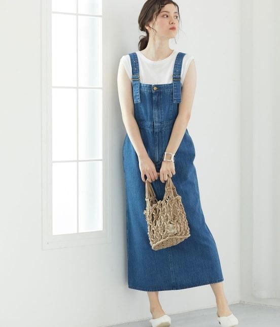 ビス   【早割】【Lee×ViS】デニムサロペットスカート - 19
