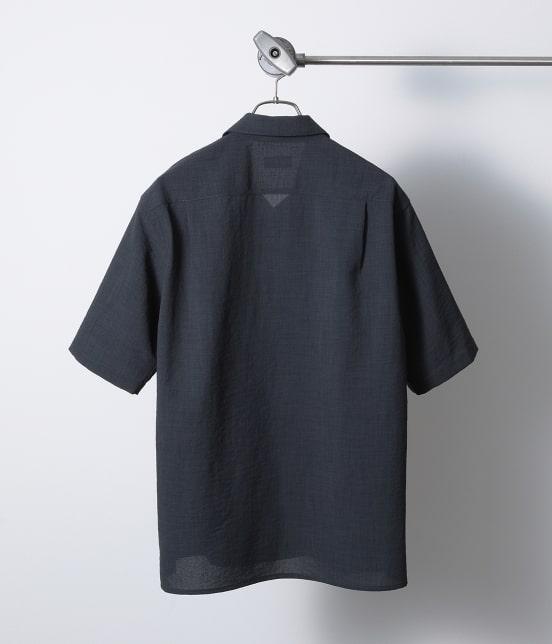 ジュンレッド   【Less:3/レスリー】ドライクロスオープンカラーシャツ - 8