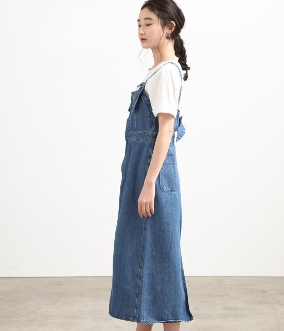 ビス   【早割】【Lee×ViS】デニムサロペットスカート - 1